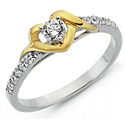 more details on 18ct Gold Plated Sterling Silver Heart Solitaire Ring.