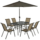 more details on Sicily 6 Seater Patio Set - Bronze.