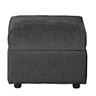 more details on HOME Tessa Fabric Footstool - Charcoal.