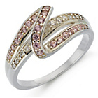 more details on Sterling Silver Pink and White Cubic Zirconia Eternity Ring.