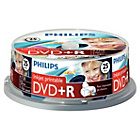 more details on Philips DVD+R 4.7GB 16X Pack of 25 on a Spindle.
