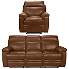 more details on New Paulo Large Leather Manual Recliner Sofa and Chair - Tan