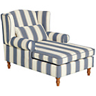 more details on Heart of House Padstow Fabric Chaise Longue - Naval Stripe.