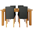 more details on Heyford Extendable Dining Table and 4 Black Chairs.
