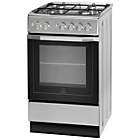 more details on Indesit I5GG1S Freestanding Cooker - Silver
