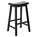 more details on Wooden Saddle Bar Stool - Black.