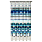more details on HOME Stripe Shower Curtain - Blue and Aqua.