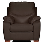 more details on Collection Sorrento Leather Recliner Chair - Chocolate.
