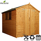 more details on Mercia Shiplap Apex Wooden Shed Installation Included -8x6ft