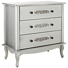 more details on Sophia 3 Drawer Chest - Silver.