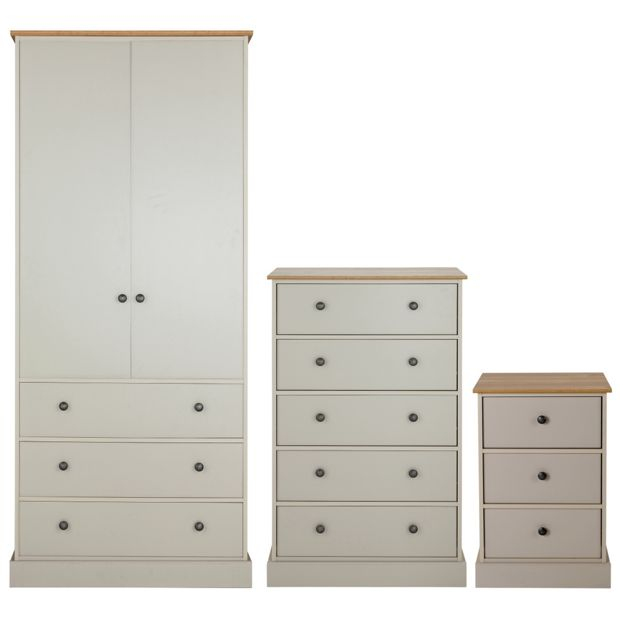 Buy Collection Kensington 3 Pc Package Oak Effect Soft Grey At Your Online