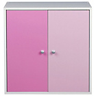 more details on Phoenix 2 Door Storage Unit - Pink on White.