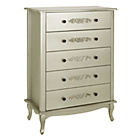 more details on Sophia 5 Drawer Chest - Champagne.