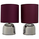more details on ColourMatch Pair of Touch Table Lamps - Purple Fizz.