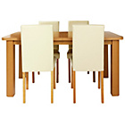 more details on Heyford Extendable Dining Table and 4 Cream Chairs.