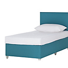 more details on Young Airsprung New Elliott Single Divan & Headboard - Teal