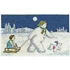 more details on The Snowman and Snowdog Night Time Sledging Cross Stitch Kit