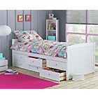 more details on Lennox White 6 Drawer Cabin Bed with Ashley Mattress.