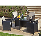more details on HOME Cube Rattan Effect 4 Seater Patio Set - Black.