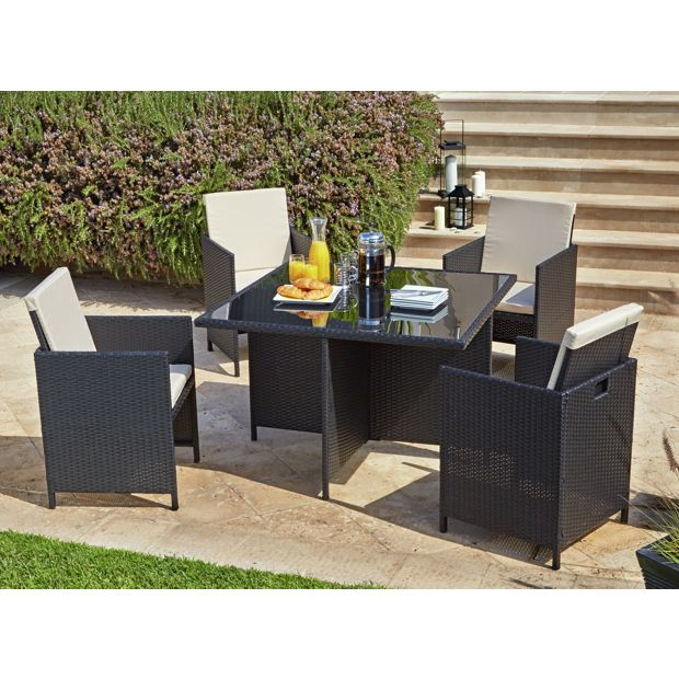 Who Buys Furniture: Buy Cube Rattan Effect 4 Seater Patio Set