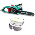 more details on Bosch AKE-40 Corded Chainsaw with Protective Glasses - 1800W