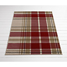 more details on Heritage Check Rug 160x120cm - Red.