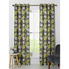 more details on Amble Leaf Unlined Eyelet Curtains - 168x229cm - Grey.