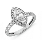 more details on Sterling Silver Cubic Zirconia Marquise Cut Ring - N.