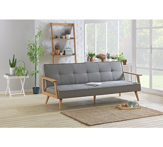 Buy Hygena Margot 2 Seater Fabric Sofa Bed Charcoal At