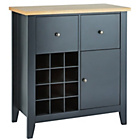 more details on Hygena Luna Sideboard with Wine Rack - Black.