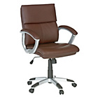 Rochester Mid Back Height Adjustable Office Chair - Brown