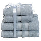 more details on Heart of House Egyptian Cotton Bale - Dove Grey