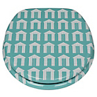 more details on Beach Huts Toilet Seat - Aqua
