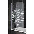 more details on Half Framed Radius Fish Shower Screen.