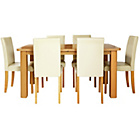 more details on Heyford Extendable Dining Table and 6 Cream Chairs.