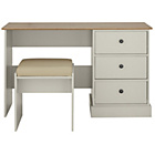 more details on Kensington Dressing Table and stool - Putty & Oak Effect.