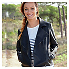 more details on Cherokee Womens Faux Leather Jacket	 - Size 14.