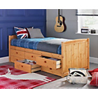 more details on Lennox Pine 6 Drawer Cabin Bed with Ashley Mattress.
