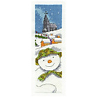 more details on The Snowman Bookmark Cross Stitch Kit.