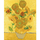 more details on National Gallery Van Gogh Sunflowers Cross Stitch Kit.