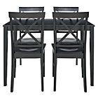 more details on Jessie Dining Table and 4 Black Cross Back Chairs.
