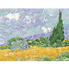 more details on National Gallery Van Gogh Wheatfield Cross Stitch Kit.