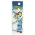 more details on The Snowman and Snowdog Moonlight Bookmark Cross Stitch Kit.