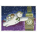 more details on Snowman and Snowdog Flying Passed Big Ben Cross Stitch Kit.