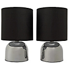 more details on ColourMatch Pair of Touch Table Lamps - Jet Black.