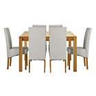 more details on Heart of House Clevedon Ext Table & 6 Grey Skirted Chairs.