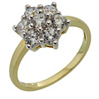 more details on 9ct Gold 7 Stone Cubic Zirconia Daisy Cluster Ring.