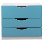 more details on Tolga 3 Drawer Chest - Blue.