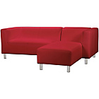 more details on ColourMatch Moda Leather Effect Right Corner Sofa -Poppy Red