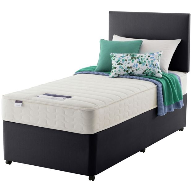 Buy silentnight northolt memory single divan bed at argos for Silentnight divan